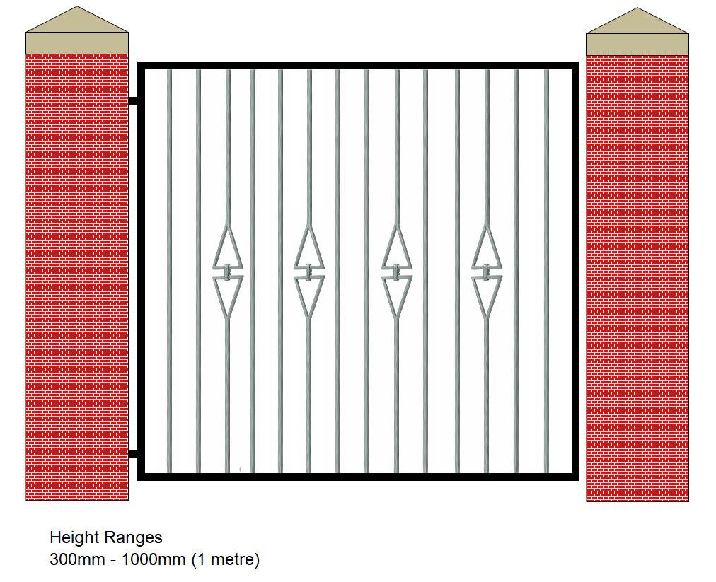 Ct2 Single Gate Wrought Iron Gates Wrought Iron Railings Galvanised Coal Bunkers Metal