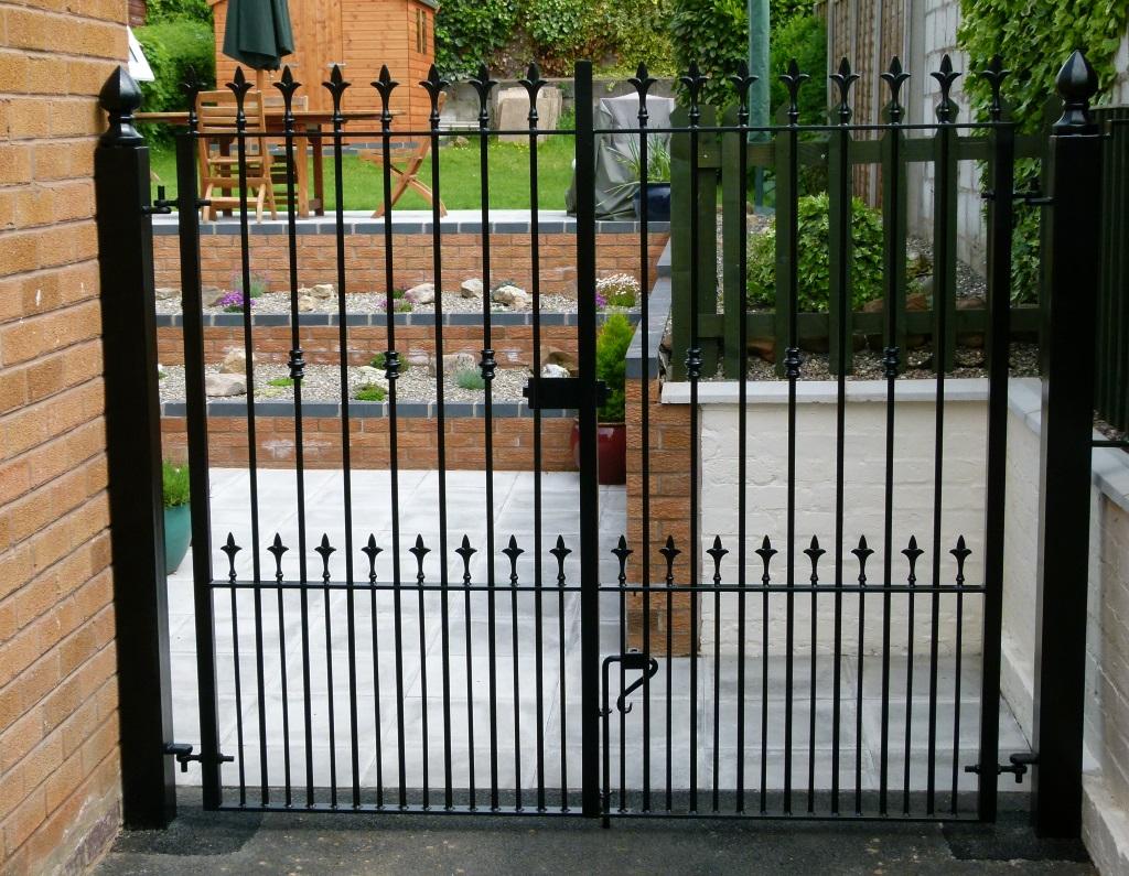 "6/"" 150mm GATES HINGES 12MM WROUGHT IRON ADJUSTABLE GALVANISED METAL FITTINGS 4"